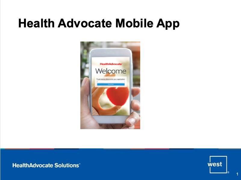 Health Advocate Mobile App